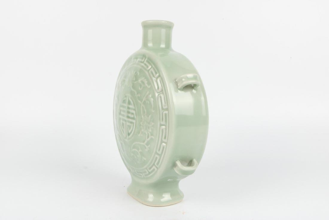 A Chinese Celadon Porcelain Vase - 4