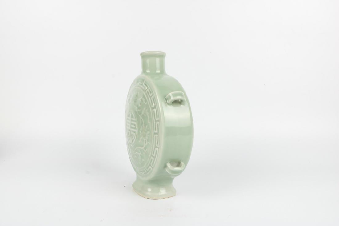 A Chinese Celadon Porcelain Vase - 9