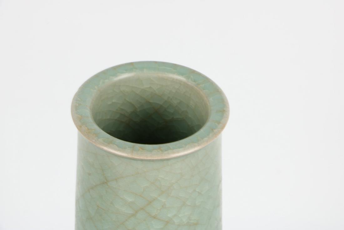 A Chinese Celadon Porcelain Vase - 8