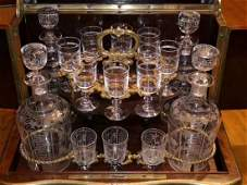 A Set of English Glass Wine Set