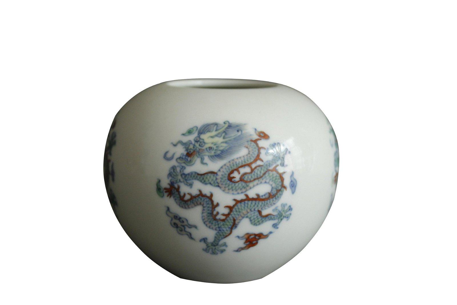 A Chinese Dou-Cai Porcelain Water Pot