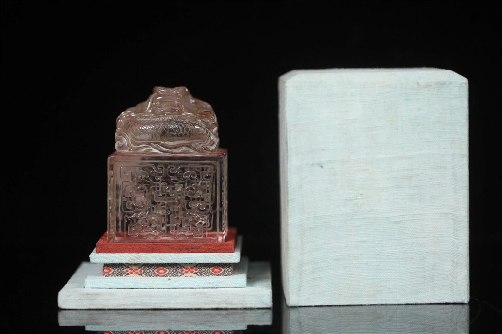 A Chinese Carved Crystal Seal