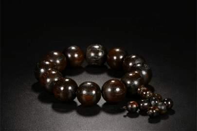 A Chinese Carved Hardwood Bracelet