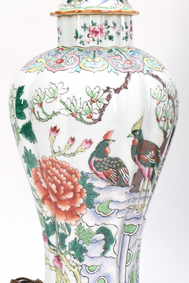 Pair Chinese Porcelain Lamp Vases - 6