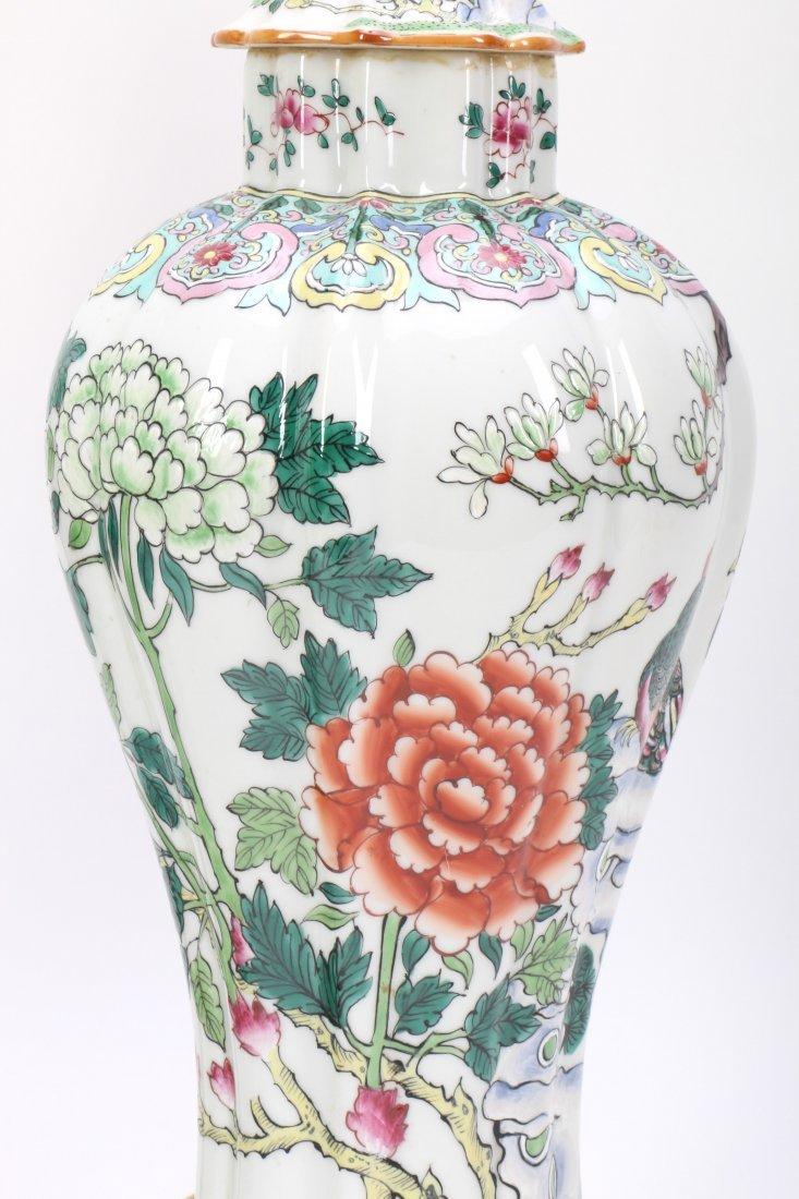 Pair Chinese Porcelain Lamp Vases - 7
