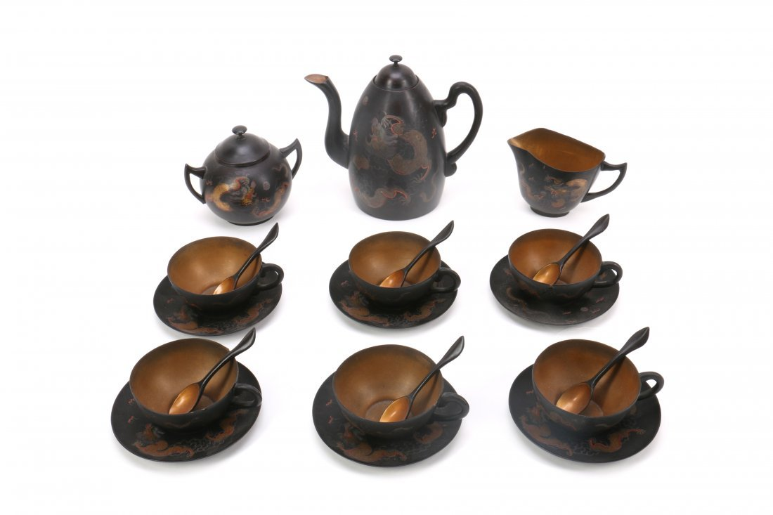 Chinese FuZhou Lacquer Tea Set