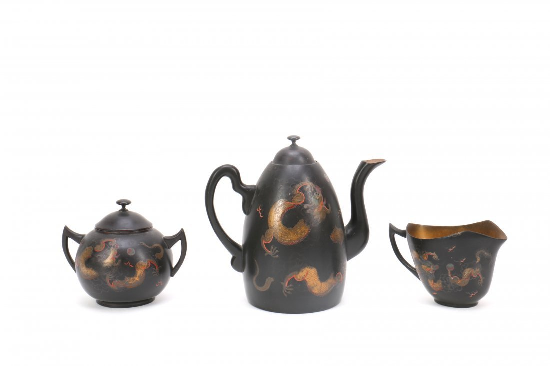 Chinese FuZhou Lacquer Tea Set - 3