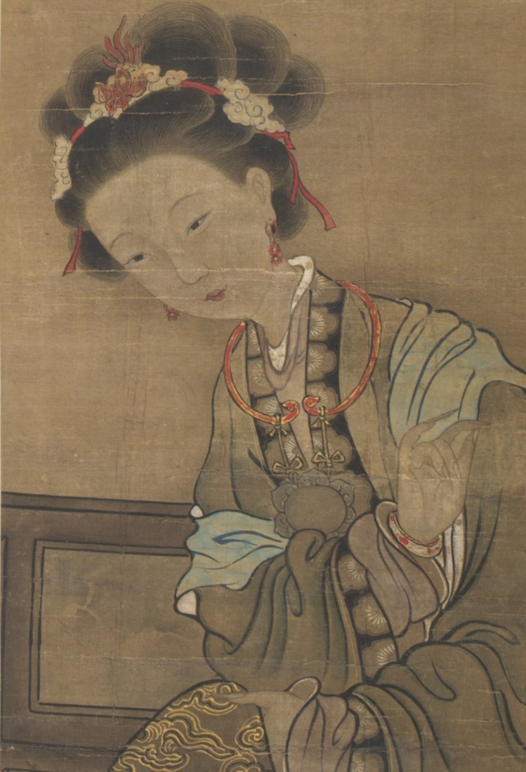 Chinese Scroll Painting of a Lady - 2
