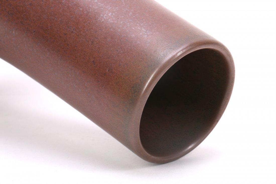 Chinese Brown Porcelain Vase - 2