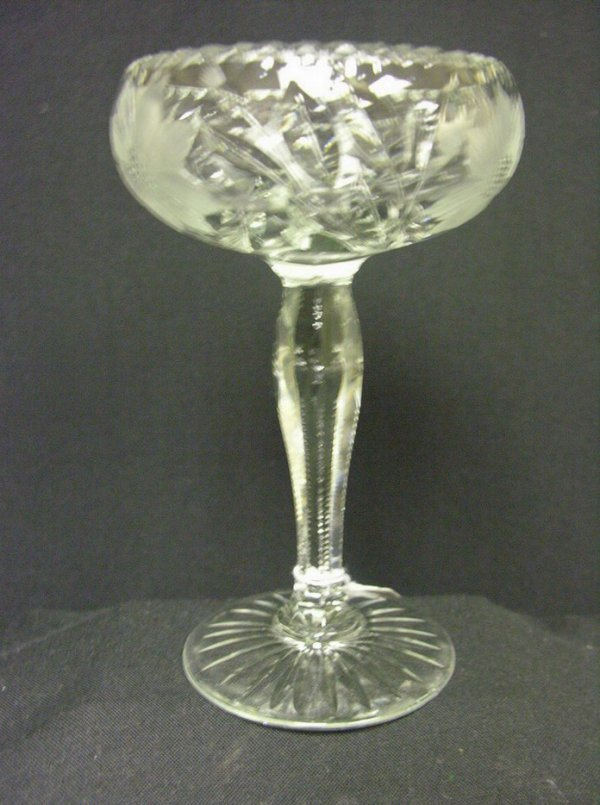 835: ABP CUT GLASS FOOTED COMPOTE