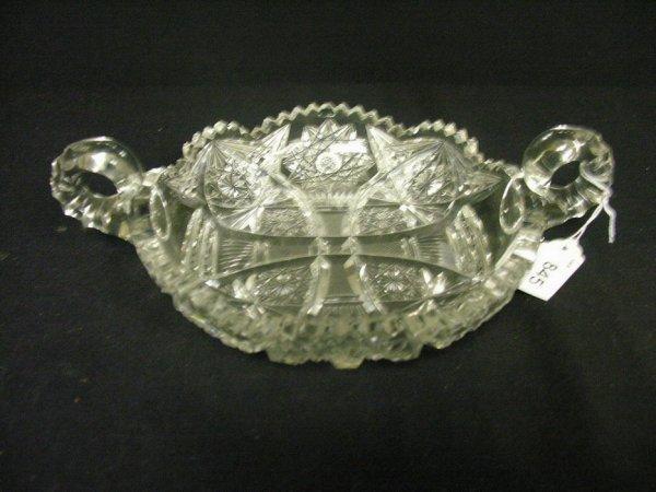 845: ABP CUT CRYSTAL GLASS HANDLED BOWL