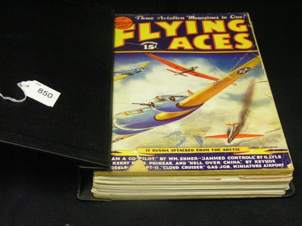 850: MODEL AIRPLANE NEWS 1937-41 MAGAZINES