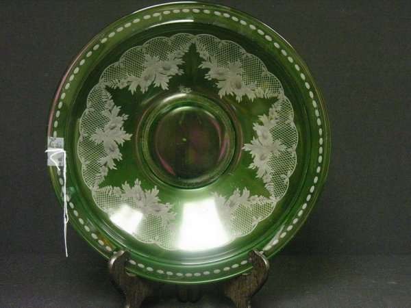 853: LARGE CUT TO CLEAR BOHEMIAN BOWL