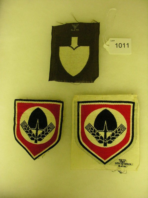 1011: WWII GERMAN INSIGNIA ARM PATCHES