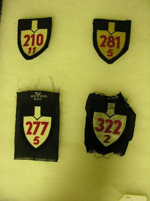 1013: WWII GERMAN ARM PATCHES