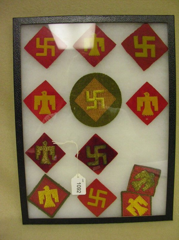 1092: 12 U.S. ARMY 45TH INF. ARM PATCHES