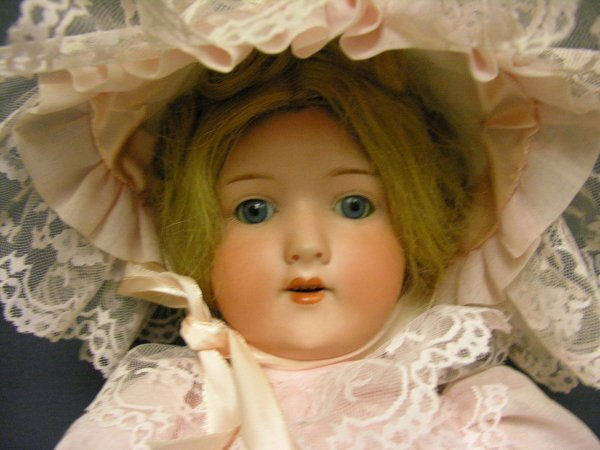 503: H.W. GERMANY BISQUE HEAD DOLL 23''