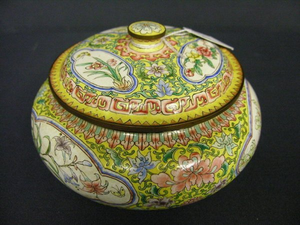 20: CANTON ENAMEL COVERED BOWL