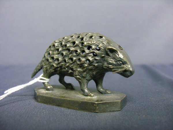 87: WILCOX SILVER PLATE PORCUPINE TOOTHPICK HOLDER