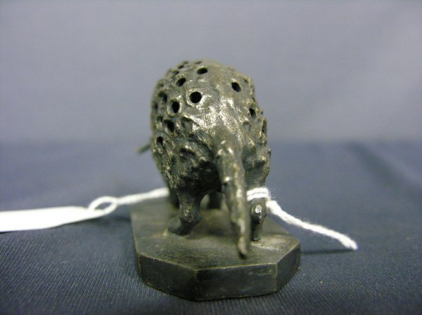 87: WILCOX SILVER PLATE PORCUPINE TOOTHPICK HOLDER - 4