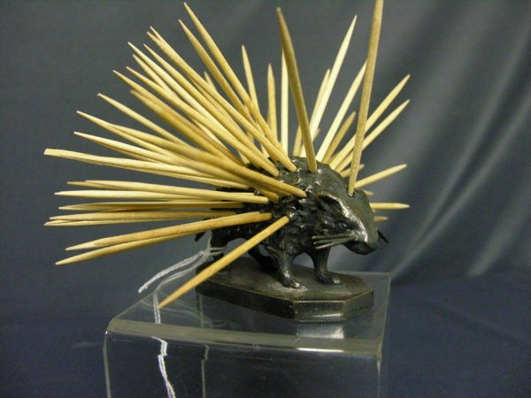 87: WILCOX SILVER PLATE PORCUPINE TOOTHPICK HOLDER - 7