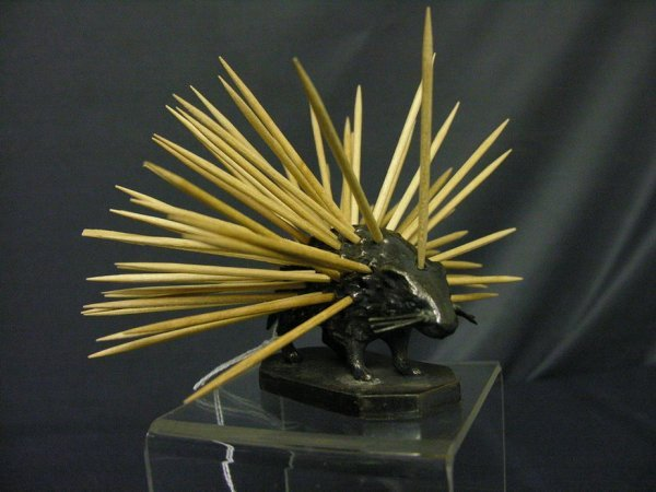 87: WILCOX SILVER PLATE PORCUPINE TOOTHPICK HOLDER - 8