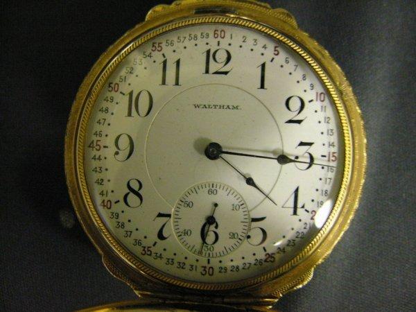 727: WALTHAM VANGUARD 23 JEWEL H.C. POCKET WATCH