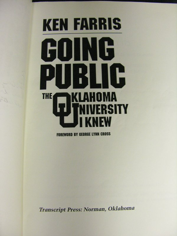 700: GOING PUBLIC OKLAHOMA UNIVERSITY KEN FARRIS - 3