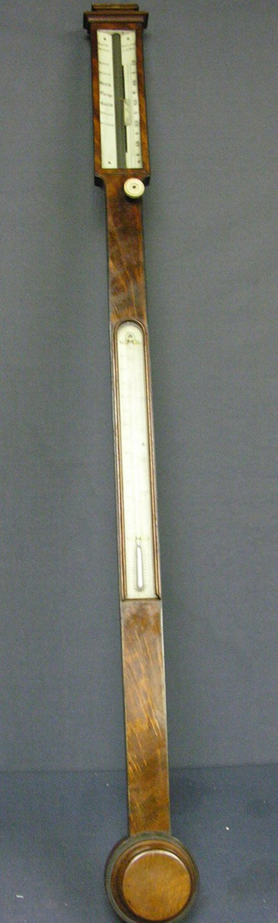 1017: VICTORIAN BAROMETER THERMOMETER