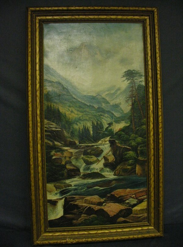 1019: A.H. ALGREN  MOUNT HOLY CROSS  COLORADO PAINTING