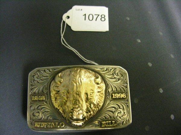1078: EDWARD H. BOHLIN BUFFALO BILL STERLING BUCKLE