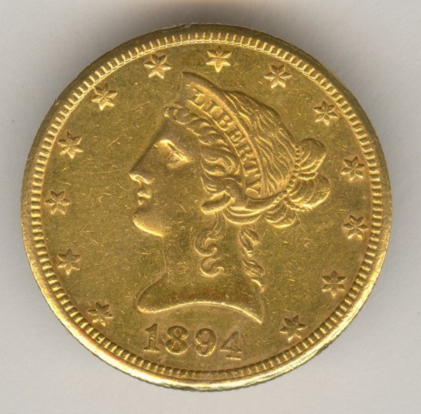 1103: 1894-O U.S. GOLD TEN DOLLAR EAGLE
