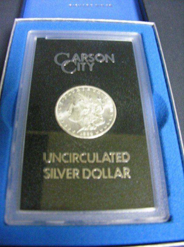1502: 1884 C.C. U.S. MORGAN SILVER DOLLAR