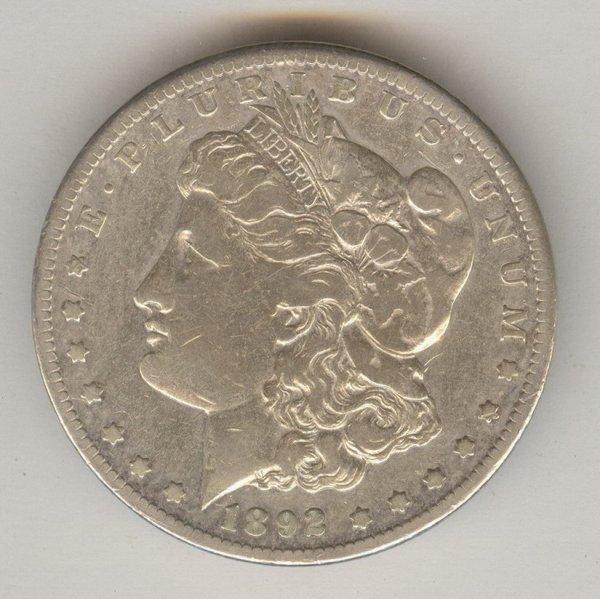 1515: 1892 CC U.S. MORGAN SILVER DOLLAR