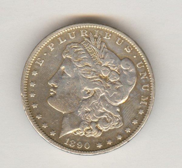 1516: 1890 C.C. U.S. MORGAN SILVER DOLLAR