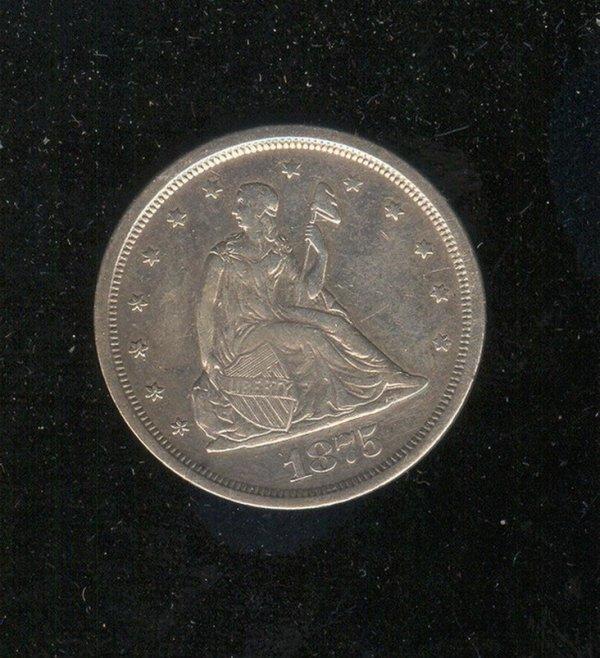 1519: 1875-S U.S. TWENTY CENT COIN
