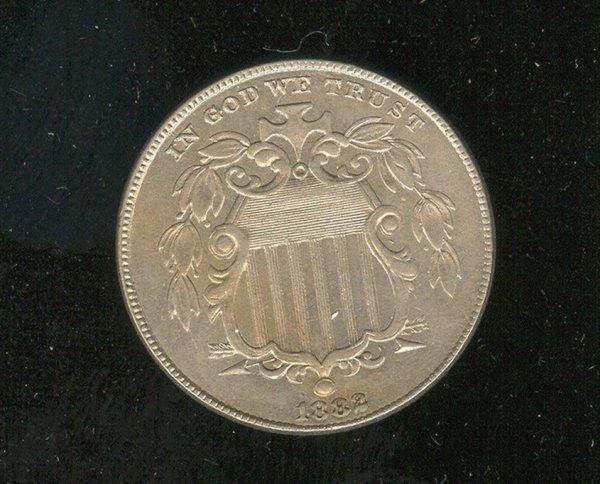 1520: 1882 U.S. SHIELD NICKEL UNC.