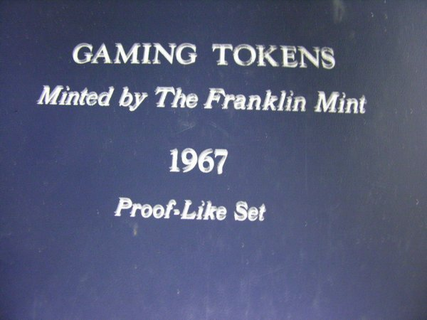 1523: 96 FRANKLIN MINT PROOF GAMING TOKENS