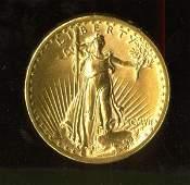 1615: 1907 GOLD US ST. GAUDENS ROMAN NUMERAL FLAT RIM