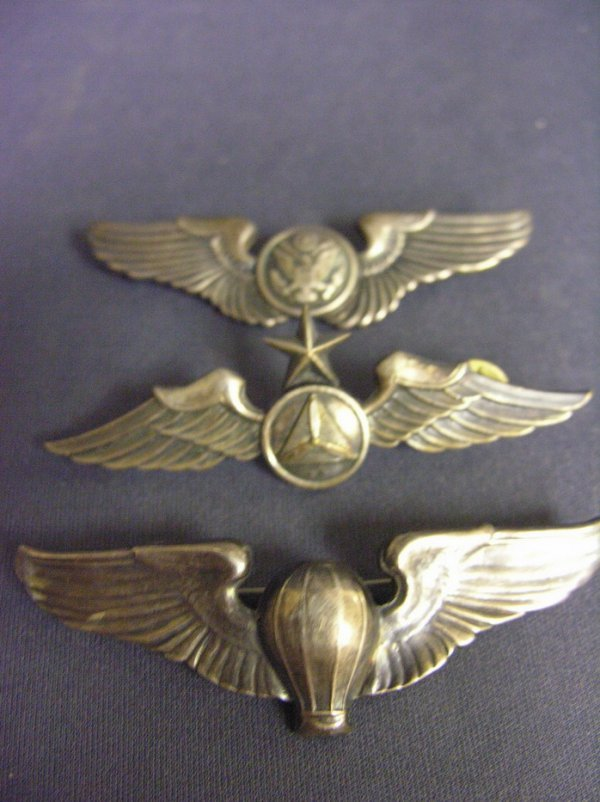 1953: 3 WWII U.S.A.A.F. STERLING WINGS