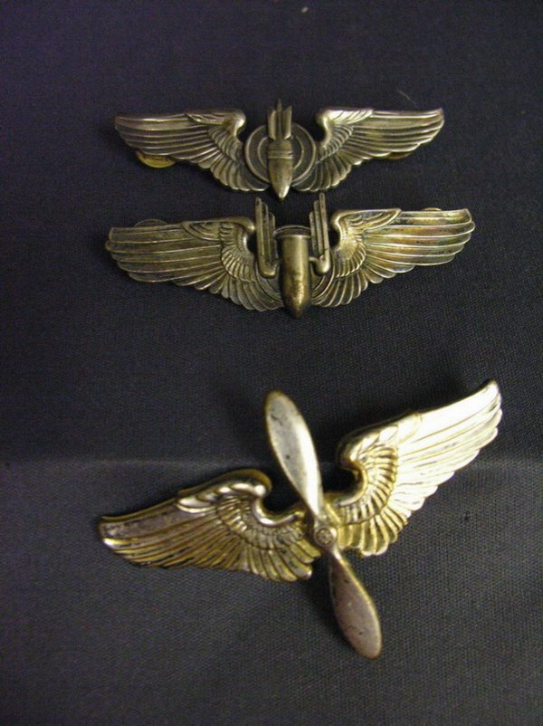 1955: 3 WWII U.S.A.A.F. STERLING WINGS