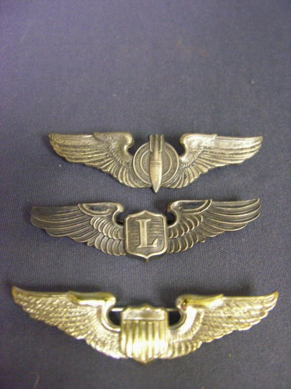 1959: 3 WWII U.S.A.A.F. STERLING WINGS