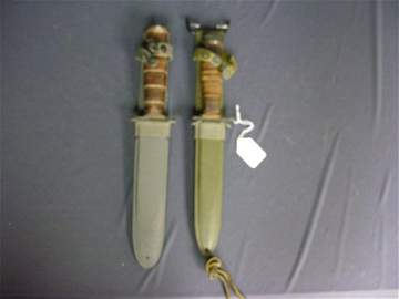 2053: TWO U.S. MILITARY KNIVES