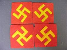 2187: 4 EARLY TYPE U.S. 45TH INFANTRY ARM PATCHES