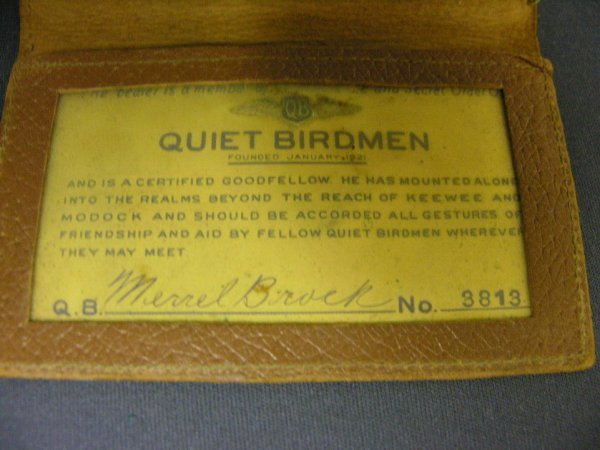 2219: QUIET BIRDMEN METAL MEMBERSHIP CARD - 5