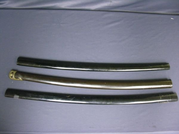 1953A: 3 WWII JAPANESE SWORD SCABBARDS