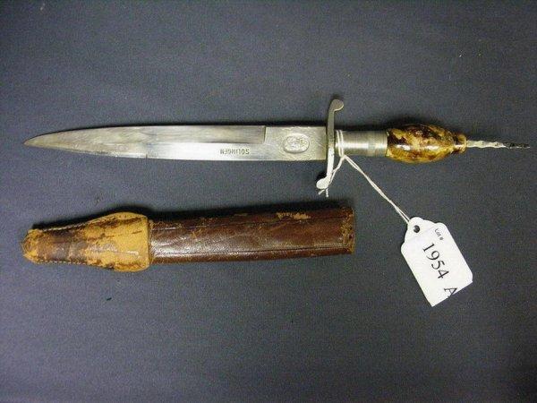 1954A: VINTAGE HIDALGO KNIFE AND SHEATH