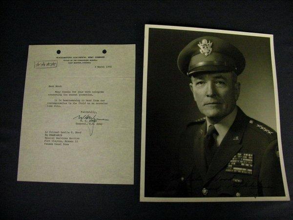 1965A: GEN. W.G. WYMAN AUTOGRAPHED PHOTO