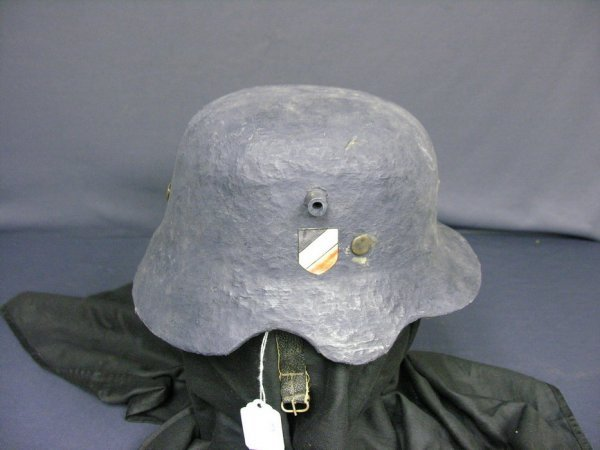 2466: RARE WWII GERMAN CHILDS LUFTWAFFE HELMET PAPIER