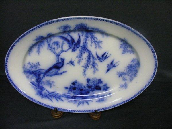 3005: THOMAS ELSMORE ENGLAND FLOW BLUE PLATTER